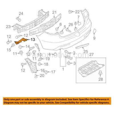 Aftermarket Replacement - BRT-1095RL & BRT-1095RR 10-12 Mazda3 Sedan Rear Bumper Cover Retainer Mounting Brace Reinforcement Support Bracket SET PAIR Right Passenger & Left Driver Side - Image 3