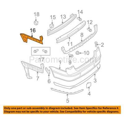 Aftermarket Replacement - BRT-1221RL & BRT-1221RR 06-10 VW Passat Rear Bumper Cover Guide Face Bar Retainer Brace Reinforcement Support Bracket SET PAIR Right Passenger & Left Driver Side - Image 3