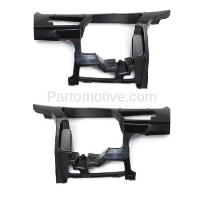 Aftermarket Replacement - BRT-1223FL & BRT-1223FR 10-14 VW Golf & Jetta Front Bumper Cover Face Bar Outer Locating Guide Retainer Mounting Brace Support Bracket SET PAIR Right Passenger & Left Driver Side - Image 1