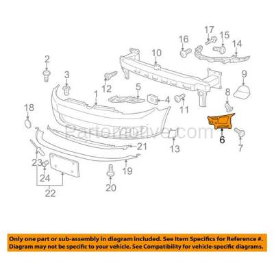 Aftermarket Replacement - BRT-1223FL & BRT-1223FR 10-14 VW Golf & Jetta Front Bumper Cover Face Bar Outer Locating Guide Retainer Mounting Brace Support Bracket SET PAIR Right Passenger & Left Driver Side - Image 3