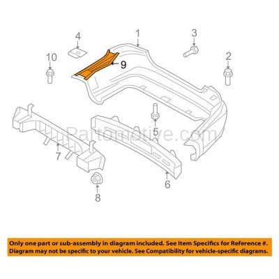 Aftermarket Replacement - BRT-1226RL & BRT-1226RR 07-11 Chevy Aveo Rear Bumper Cover Retainer Mounting Brace Reinforcement Support Bracket Steel PAIR SET Right Passenger & Left Driver Side - Image 3