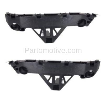 Aftermarket Replacement - BRT-1101FL & BRT-1101FR 10-12 Mazda 3 Mazdaspeed Front Bumper Retainer Mounting Brace Reinforcement Support Bracket Plastic SET PAIR Right Passenger & Left Driver Side - Image 1