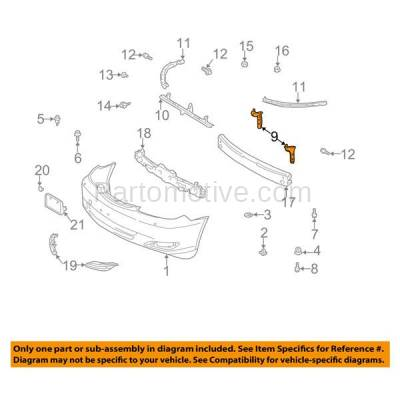 Aftermarket Replacement - BRT-1153FL & BRT-1153FR 02-06 Camry Front Bumper Cover Face Bar Retainer Mounting Brace Reinforcement Support Bracket PAIR SET Right Passenger & Left Driver Side - Image 3