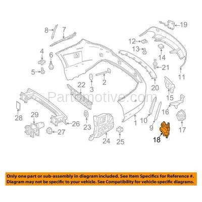 Aftermarket Replacement - BRT-1104RL & BRT-1104RR 2014-2016 CLA45 AMG Rear Bumper Cover Retainer Mounting Brace Reinforcement Support Bracket PAIR SET Passenger & Driver Side - Image 3