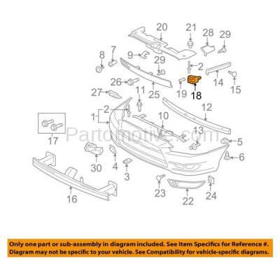 Aftermarket Replacement - BRT-1120FL & BRT-1120FR 2008-2017 Lancer Front Bumper Cover Retainer Mounting Reinforcement Support Bracket SET PAIR Right Passenger & Left Driver Side - Image 3