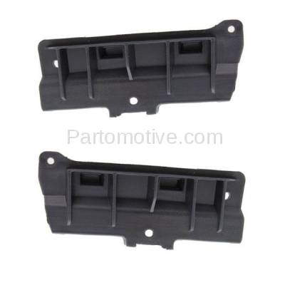 Aftermarket Replacement - BRT-1142FL & BRT-1142FR 11-14 Cayenne Front Bumper Cover Face Bar Retainer Mounting Brace Reinforcement Support Bracket Plastic SET PAIR Right Passenger & Left Driver Side - Image 1