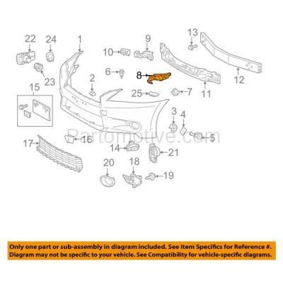 Aftermarket Replacement - BRT-1088FL & BRT-1088FR 13-15 GS350 & GS450h Front Bumper Cover Retainer Mounting Brace Reinforcement Support Bracket SET PAIR Right Passenger & Left Driver Side - Image 3