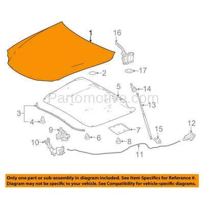 Aftermarket Replacement - HDD-1472 2016 Lexus IS200t & 2014-2015 IS250 & 2016-2018 IS300 & 2014-2018 IS350 (Base & F Sport) Sedan 4-Door Front Hood Panel Assembly Primed Steel - Image 3