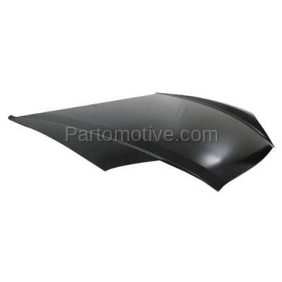 Aftermarket Replacement - HDD-1394 2003-2006 Hyundai Tiburon (Base, GS, GT, SE) Coupe 2-Door (2.0 & 2.7 Liter Engine) Front Hood Panel Assembly Primed Steel - Image 2
