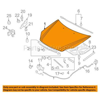 Aftermarket Replacement - HDD-1447 2009-2010 Kia Optima & Magentis (EX, LX, LX Premium, SX) Sedan 4-Door (2.4 & 2.7 Liter Engine) Front Hood Panel Assembly Primed Steel - Image 3