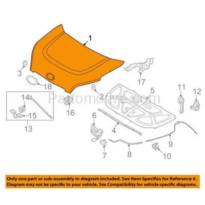 Aftermarket Replacement - HDD-1450 2012-2013 Kia Soul (2u, 4u, 4u Luxury, 4u Burner, 4u Retro, Base, Exclaim, Plus) Hatchback 4-Door Front Hood Panel Assembly Primed Steel - Image 3