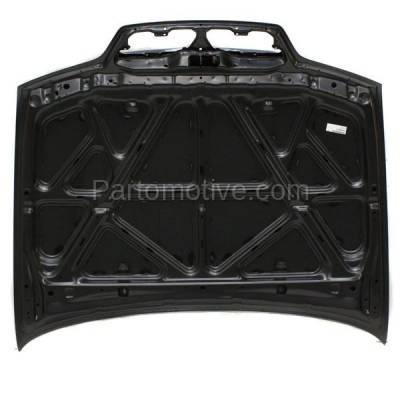 Aftermarket Replacement - HDD-1418 1999-2002 Infiniti G20 (Base & T) Sedan 4-Door (2.0 Liter Engine) Front Hood Panel Assembly Primed Steel - Image 3
