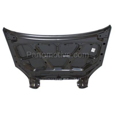 Aftermarket Replacement - HDD-1396 2005-2009 Hyundai Tucson (GL, GLS, L, Limited, LX, SE) 2.0 & 2.7 Liter Engine (Sport Utility 4-Door) Front Hood Panel Assembly Primed Steel - Image 3