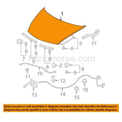 Aftermarket Replacement - HDD-1355 2006-2011 Honda Civic (DX, DX-G, EX, EX-L, LX, Si) Coupe 2-Door (1.8 & 2.0 Liter Engine) Front Hood Panel Assembly Primed Steel - Image 3