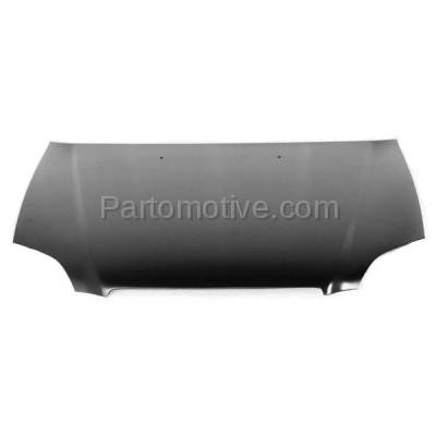 Aftermarket Replacement - HDD-1332 1996-1998 Honda Civic (CX, DX, EX, GX, HX, LX, Si) 1.6 Liter Engine (Coupe, Hatchback, Sedan) Front Hood Panel Assembly Primed Steel - Image 2