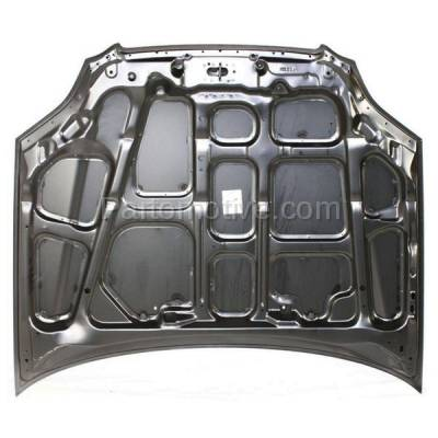 Aftermarket Replacement - HDD-1332 1996-1998 Honda Civic (CX, DX, EX, GX, HX, LX, Si) 1.6 Liter Engine (Coupe, Hatchback, Sedan) Front Hood Panel Assembly Primed Steel - Image 3