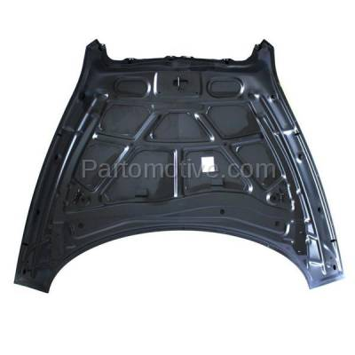 Aftermarket Replacement - HDD-1280 2006-2011 Chevy HHR (LS, LT, SS & Panel) 2.0 & 2.2 & 2.4 Liter Engine (Wagon 2 & 4-Door) Front Hood Panel Assembly Primed Steel - Image 2