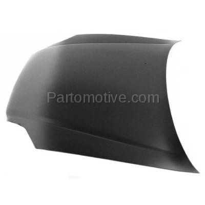 Aftermarket Replacement - HDD-1341 1999-2000 Honda Civic (CX, DX, EX, GX, HX, LX, Si) 1.6 Liter Engine (Coupe, Hatchback, Sedan) Front Hood Panel Assembly Primed Steel - Image 2