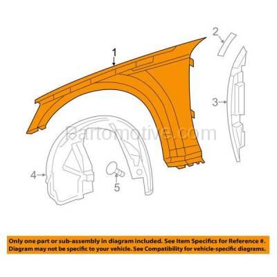 Aftermarket Replacement - FDR-1139R 2011-2014 Dodge Charger (Sedan 4-Door) Front Fender Quarter Panel (without Molding Holes) Primed Steel Right Passenger Side - Image 3