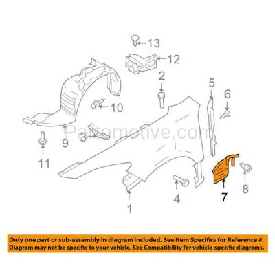 Aftermarket Replacement - ESS-1423L & ESS-1423R 09-13 Mazda6 Front Engine Splash Shield Under Cover Undercar Left Right SET PAIR - Image 3