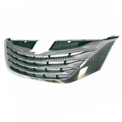Aftermarket Replacement - GRL-2544C CAPA 11-14 Sienna Front Grill Grille Chrome Shell/Frame TO1200333 5310108090 - Image 2
