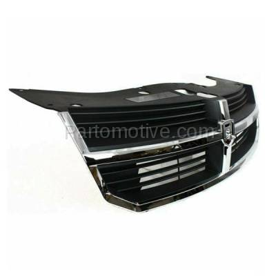 Aftermarket Replacement - GRL-1321C CAPA 08 09 10 Avenger Front Grill Grille Black Insert Chrome Shell YW351XXAB - Image 2