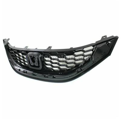 Aftermarket Replacement - GRL-1871C CAPA NEW 13-14 Civic Sedan Front Face Bar Grill Grille HO1200218 71121TR3A11 - Image 2