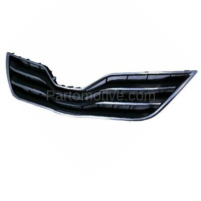 Aftermarket Replacement - GRL-2537C CAPA 10-11 Camry XLE Front Grill Grille Black/Chrome TO1200325 5310106190C0 - Image 2
