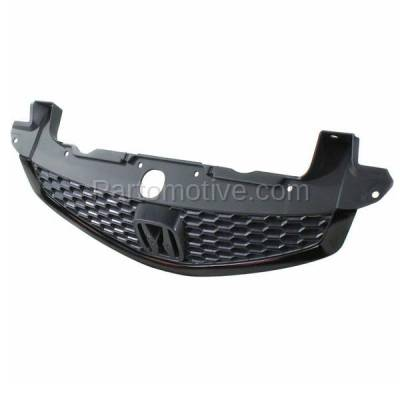Aftermarket Replacement - GRL-1866C CAPA 12-13 Civic Si Coupe 2DR Front Grill Grille Black HO1200212 71121TS9A01 - Image 2