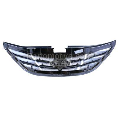 Aftermarket Replacement - GRL-1910C CAPA Front Grill Grille Chrome-Shell HY1200154 863503S100 Fits 11-13 Sonata - Image 3