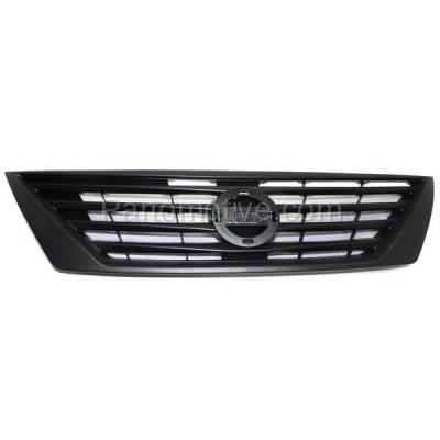 Aftermarket Replacement - GRL-2290C CAPA Front Grill Grille Dark Gray NI1200246 623103BA0A For 12-14 Versa Sedan - Image 1