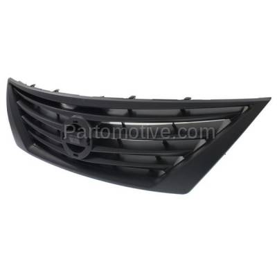 Aftermarket Replacement - GRL-2290C CAPA Front Grill Grille Dark Gray NI1200246 623103BA0A For 12-14 Versa Sedan - Image 2