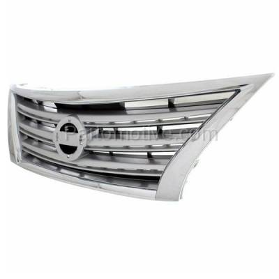 Aftermarket Replacement - GRL-2296C CAPA Front Grill Grille Chrome Silver NI1200252 623103SH0A Fits 13-15 Sentra - Image 2