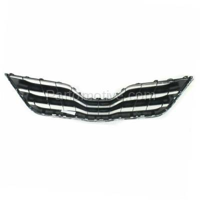Aftermarket Replacement - GRL-2536C CAPA 10-11 Camry LE Front Grill Grille Black/Chrome TO1200324 5310106070C0 - Image 3