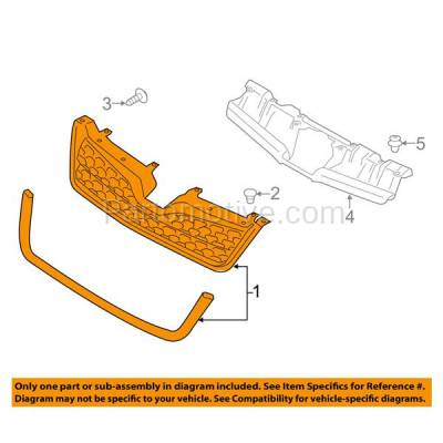 Aftermarket Replacement - GRL-2345C CAPA 14-15 Forester 2.5L 2.5i Front Lower Grill Grille SU1200154 91121SG040 - Image 3