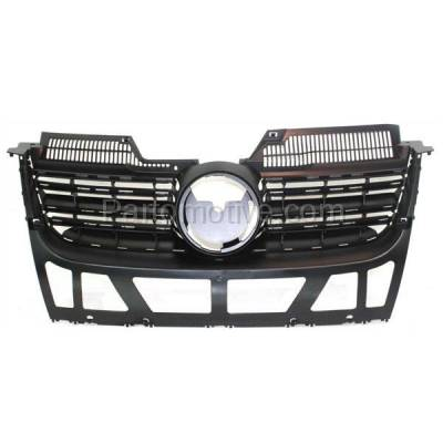 Aftermarket Replacement - GRL-2617C CAPA NEW 05-10 VW Jetta Front Face Bar Grill Grille VW1200139 1K5853653C9B9 - Image 1