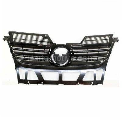 Aftermarket Replacement - GRL-2617C CAPA NEW 05-10 VW Jetta Front Face Bar Grill Grille VW1200139 1K5853653C9B9 - Image 3