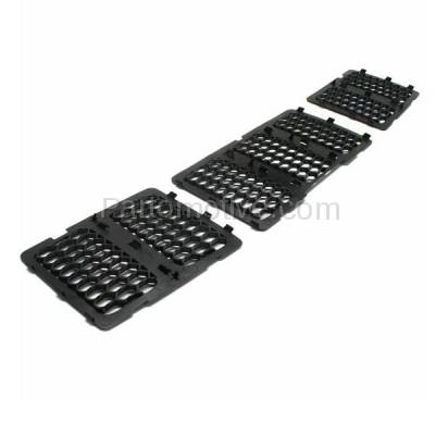 Aftermarket Replacement - GRL-1347C CAPA 14-15 Grand Cherokee Front Grill Grille Insert 3-Piece SET 68143074AD - Image 2