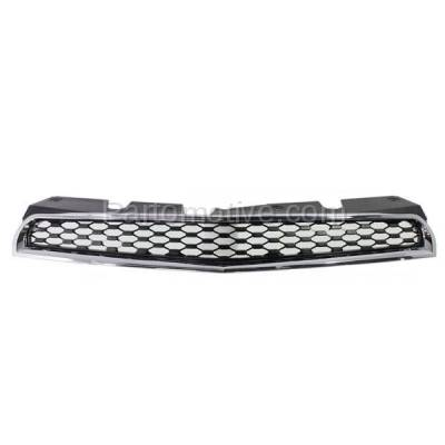 Aftermarket Replacement - GRL-1760C CAPA 10-15 Equinox Front Grill Grille Black Chrome Frame GM1200622 25798744 - Image 1