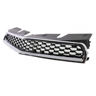 Aftermarket Replacement - GRL-1760C CAPA 10-15 Equinox Front Grill Grille Black Chrome Frame GM1200622 25798744 - Image 2