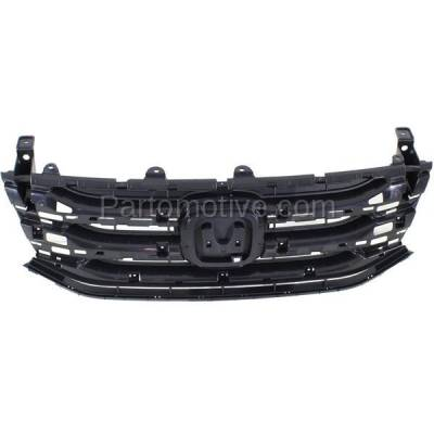 Aftermarket Replacement - GRL-1861C CAPA 11-13 Odyssey Front Face Bar Grill Grille Black HO1200207 75101TK8A01 - Image 1
