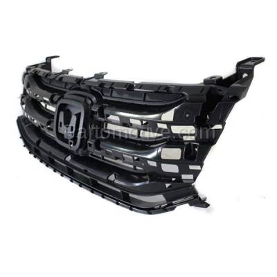 Aftermarket Replacement - GRL-1861C CAPA 11-13 Odyssey Front Face Bar Grill Grille Black HO1200207 75101TK8A01 - Image 2