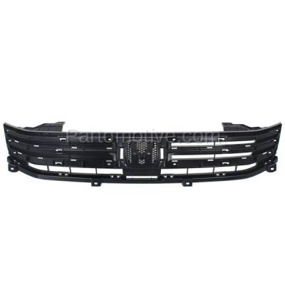 Aftermarket Replacement - GRL-1862C CAPA 10-11 Insight Front Face Bar Grill Grille Black HO1200208 71121TM8G01 - Image 1