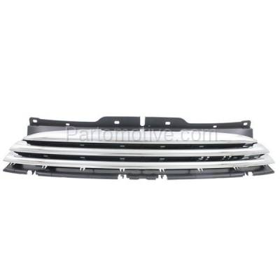 Aftermarket Replacement - GRL-2182C CAPA 11-15 Mini Cooper Front Grill Grille Chrome/Black MC1200103 51117317264 - Image 1
