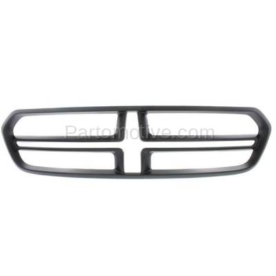 Aftermarket Replacement - GRL-1348C CAPA NEW 14-15 Durango Front Grill Grille Black Shell CH1200379 1XV16TZZAB - Image 1