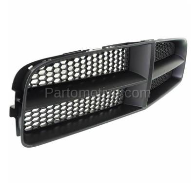 Aftermarket Replacement - GRL-1346C CAPA 06-10 Charger Front Grill Grille Black Shell Frame CH1200376 68148158AA - Image 2