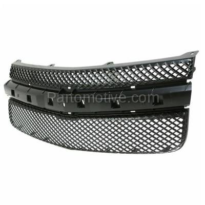 Aftermarket Replacement - GRL-1695C CAPA 05-09 Chevy Equinox Front Face Bar Grill Grille Black GM1200527 5481230 - Image 2