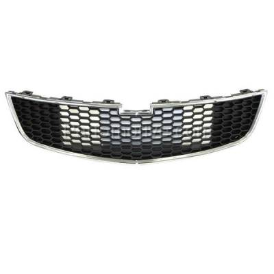 Aftermarket Replacement - GRL-1762C CAPA 11-14 Chevy Cruze Front Lower Face Bar Grill Grille GM1200624 95225615 - Image 1