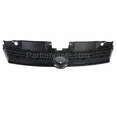 Aftermarket Replacement - GRL-2628C CAPA 11-14 VW Jetta Sedan Front Face Bar Grill Grille VW1200151 5C6853651QWA - Image 3