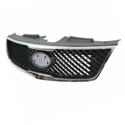Aftermarket Replacement - GRL-1989C CAPA Front Grill Grille Chrome Trim KI1200139 863501M010 Fits 10 Forte Sedan - Image 2